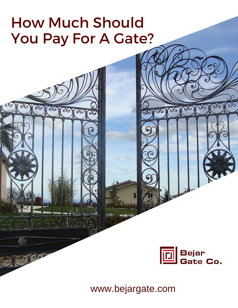 how much should you pay for a gate san diego